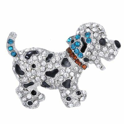 Fashion Cute Animal Dog Full Crystal Brooch Pin Christmas Party Women Jewelry