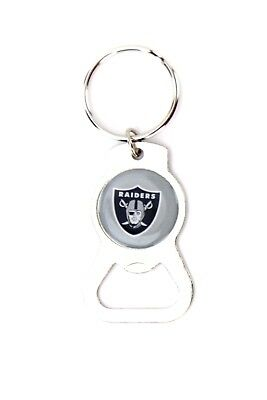 Oakland Raiders Metal Keychain Bottle Opener NFL Football Licensed Product