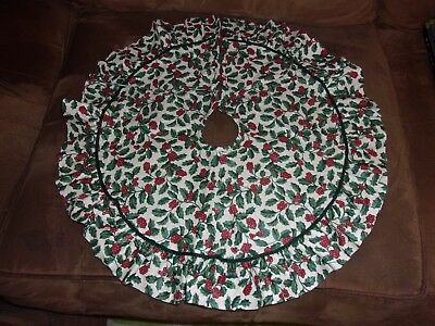 Longaberger Traditional Holly Small Tree Skirt