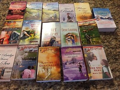 Lot of 16 Steeple Hill Love Inspired and Harlequin, and Heartsong romance books