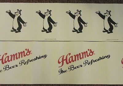 Hamm's Beer Bear Cardboard Rollout NOS Signs. 27 feet x 16 inches