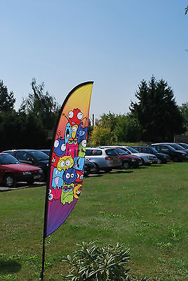 Custom Printed Crest Flags XL 5.6m banners exhibition events retail