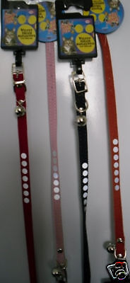 NEW  velvet touch reflective  CAT COLLAR  with bell