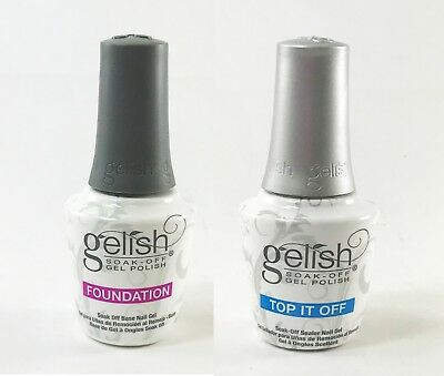 Harmony Gelish Top it Off Top Coat and Foundation Base Coat .5 oz. ea.