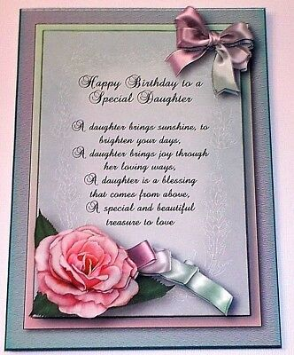 Handmade greeting card 3d happy birthday special daughter with a handmade greeting card 3d happy birthday special daughter with a sentiment m4hsunfo