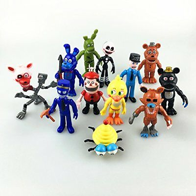 """Fnaf Five Nights at Freddy's Action Figures Toys Dolls (12 Piece), 4"""""""