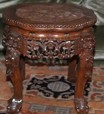 Antique Chinese Table Or Stool Ching Dynasty Rosewood