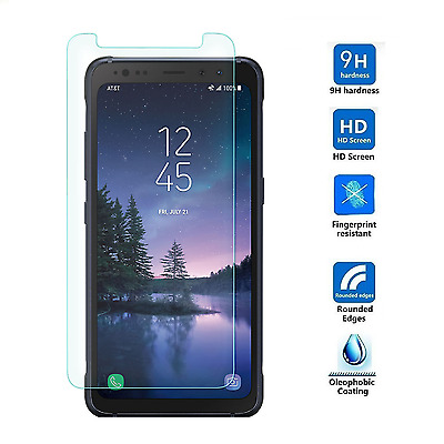 2-Pack Premium Tempered Glass Screen Protector Film for Samsung Galaxy S8 Active