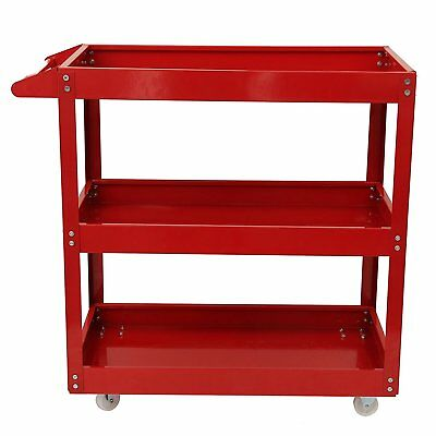 3 Tier Heavy Duty Workshop Garage Mechanic Utility Trolley Service Tool Cart UK