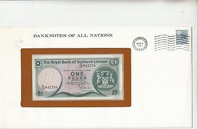 Scotland 1 Pound 1981 UNC Royal Bank of Scotland. Banknotes of all Nation