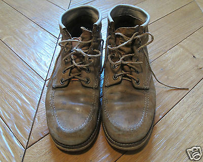 Vintage 1950s Made in USA Cut Down Moc Toe Boots sz US 9