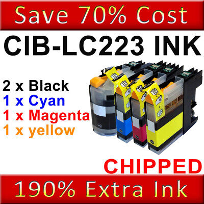 5 Ink Cartridge For Brother LC223 MFC-J5625DW J5720DW DCP-J4120DW