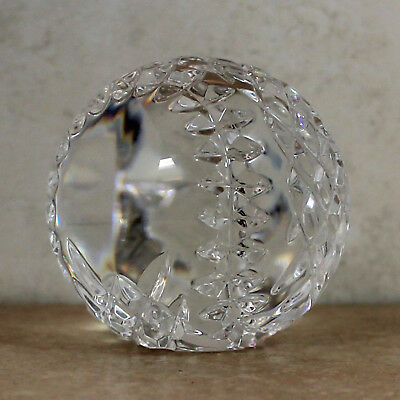 Waterford Crystal Baseball Figurine Paperweight, 2.75'H -Mint No Box