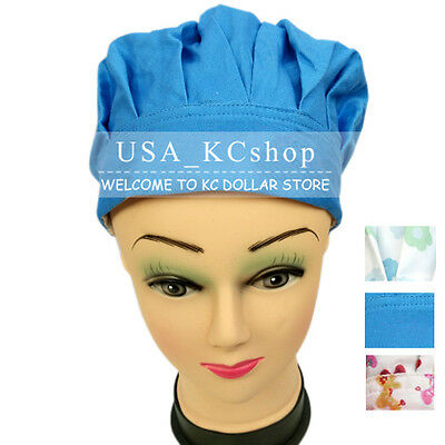 New Unisex Kitchen Catering Chef Bouffant Medical Surgical Surgery Skull Hat Cap