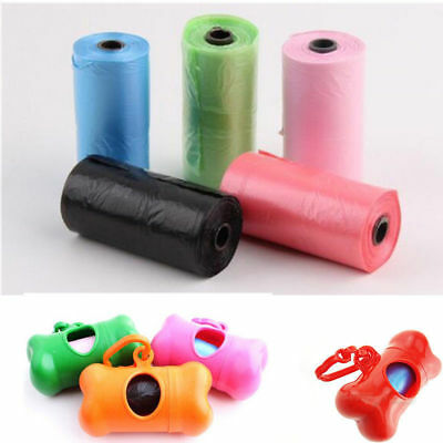 50 Rolls 750 Dog Pet Waste Poop Refill Core Poo Pick Up Clean-Up Portable Bags