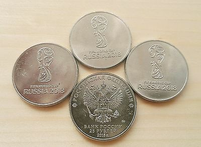 Coins 2018 FIFA World Cup Russia 25 Rubles,UNC.