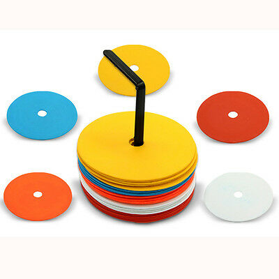 10 pcs Precision Football Training Flat Round Marker Discs Soccer Training Aids