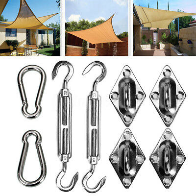 6inch Triangle Sun Shade Sail 316L Stainless Steel Hardware Installation Kit