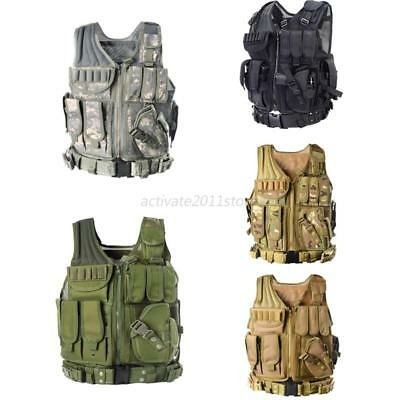 Tactical Military Vest Army Paintball Airsoft Combat Assault Attachment Rig Tops