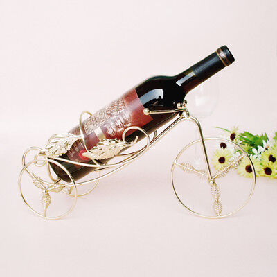 1PC Stainless Steel Metal Crafts Tricycle Wine Rac Supplies Metal Wine Holder