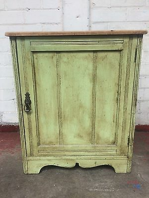 Vintage Painted Pine Cabinet Cupboard Shabby Chic