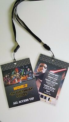 Personalised Star Wars Lanyard for Birthday Party Invites Boys