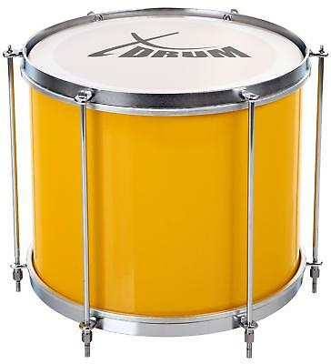 "Samba Drum Surdo Percussion Parade Marching Kettle Instrument 12""x10"" 3kg Yellow"