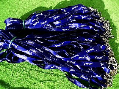 100 x Personalised Lanyard,Your Logo,Text,Image,Metal Clip 15mm  High Quality!