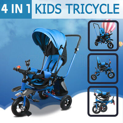 4 in 1 Baby Toddler Pram Stroller Foldable Buggy Jogger With Bassinet