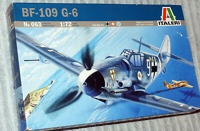 1/72nd scale model kit Italeri Messerschmitt Bf 109G-6 Luftw/Swiss/Finn decals!