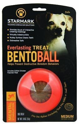 Starmark Everlasting Bento Treat Toy Ball for Dogs Small Medium Large