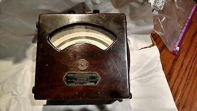 Weston Electrical Instrument Co A.c. Meter Model 155  Wood Box Leather Handle