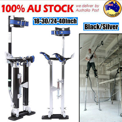 AU SHIP Plastering Stilts 2 Sizes Drywall Tools Small Medium Large Black Silver