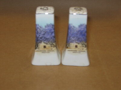 Grafton Jacaranda Avenue  Vintage Salt And Pepper Shakers Made In Japan