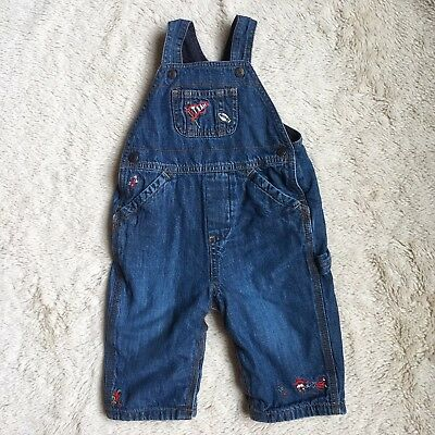 c4e5cf8e3 BABY GAP 6-12 Months Boys Overalls Jersey Lined Football Theme ...