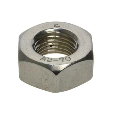 G304 Stainless Steel M10 (10mm) x 1.00mm Pitch Metric Fine Hex Standard Nut