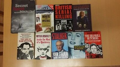 Books, true crime, murder. 50 in total, mainly true crime, some others.