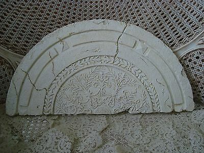 Pretty Shabby Architectural Header Pediment For Over A Doorway Or Mirror