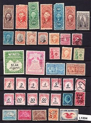 Collection / Lot Very Old Us Revenue & Other Back Of The Book Stamps   (L1304)