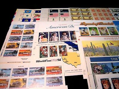Us Mint Postage Sheet Accumulation, Mnh, Face Value $195.00