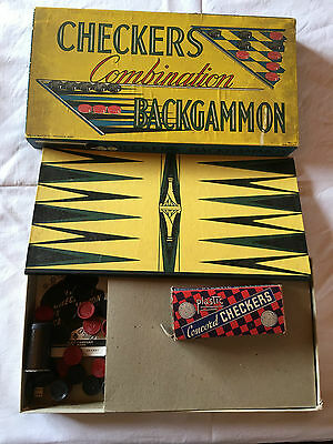 Checkers Backgammon Spiel Milton Bradley USA Springfield