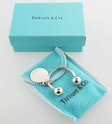 Tiffany & Co Silver Round Tag  Key Chain