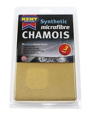 KENT Microfibre Synthetic Chamois Leather - 3 Square Foot - Bagged