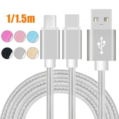 3FT 6FT Braided Lightning to USB Charger Cable Cord micro USB for iPhone Android