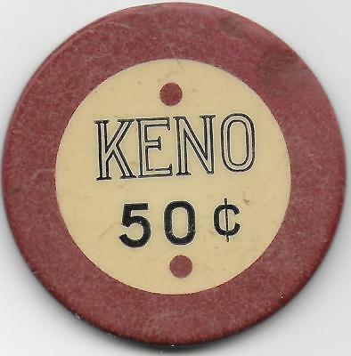 Neat Old Crest & Seal Casino Chip KENO .50 Cent-Ciudad Jurrex, Mexico-Closed