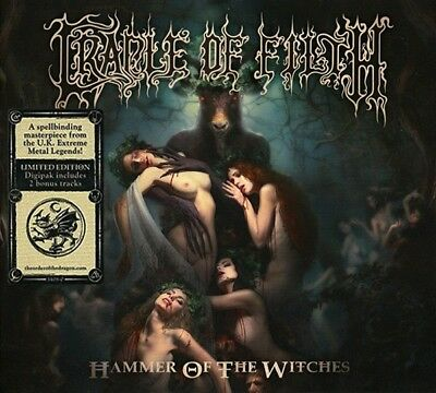 Cradle Of Filth Hammer Of The Witches Limited Cd Album & Hand Signed Art Card !