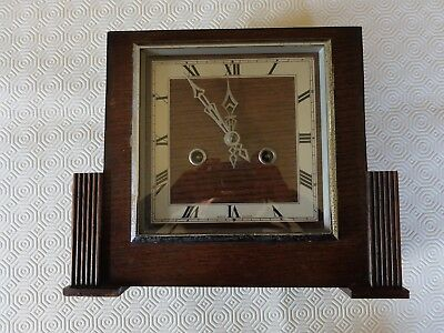 Smiths 8 day strike mantle clock 1930s art deco (works, strikes and keeps time)