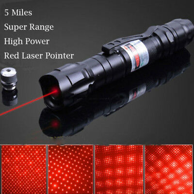 Professional Red Laser Pointer 1mw 532nm 8000M Powerful Light Pen Beam