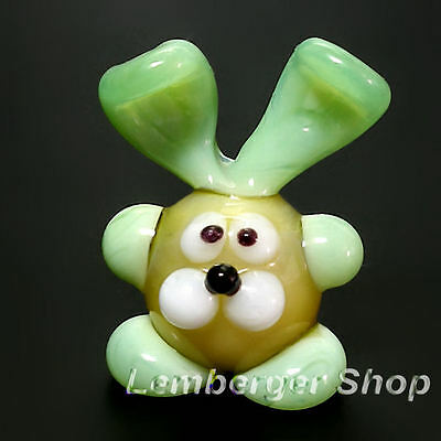 Glass figurine MINI rabbit made of colored glass. Height 2,5 cm / 1 inch!