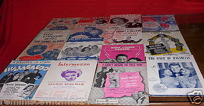 LOT OF FIFTEEN (15) PIECES OF SHEET MUSIC- 1920-1930s & 1940s SHOW TUNES /MOVIES